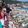 Hommage aux victimes de l'attentat de la Promenade des Anglais a Nice qui a fait 84 morts, à Nice le 19 juillet 2016. © Lionel Urman/Bestimage