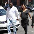 Bobby Brown et sa femme Alicia Etheredge, enceinte, se rendent chez le médecin à Beverly Hills, le 3 mai 2016