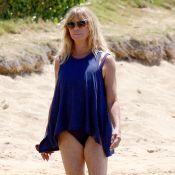 Goldie Hawn, 70 printemps, affiche sa ligne d'enfer sur une plage d'Hawaï