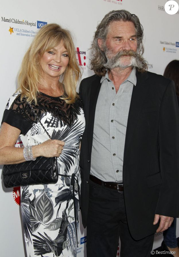 """Kurt Russell et sa femme Goldie Hawn à la soirée """"The Mattel Children's Hospital UCLA Kaleidoscope Award"""" à Culver City, le 2 mai 2015."""