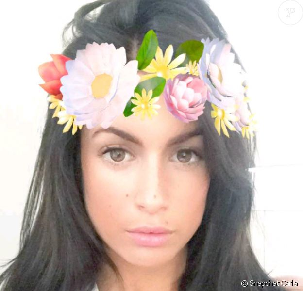 Carla des Marseillais devient brune, sur Snapchat, juillet 2016