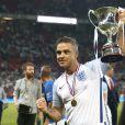 Robbie Williams - Match de football caritatif au stade Old Trafford à Manchester, le 5 juin 2016.