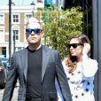Exclusif - Robbie Williams et sa femme Ayda Field se baladent dans les rues de Notting Hill à Londres, le 14 mai 2015