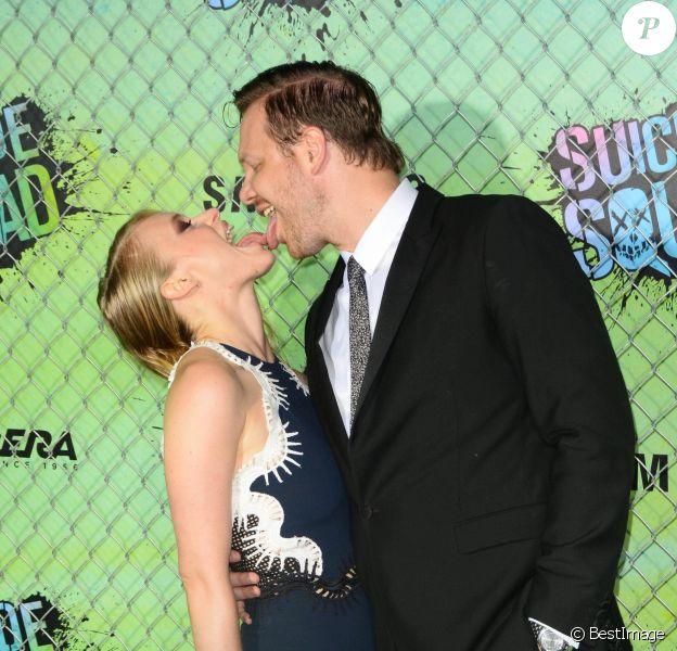 """Jim Parrack et sa femme Leven Rambin à la Première du film """"Suicide Squad"""" à New York. Le 1er août 2016"""