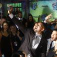 """Viola Davis, Will Smith, Margot Robbie, Jared Leto, Joel Kinnamanà la Première du film """"Suicide Squad"""" à New York. Le 1er août 2016"""