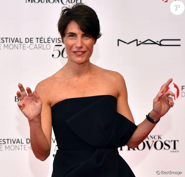 Alessandra Sublet - Cérémonie d'ouverture du 56ème Festival de télévision de Monte-Carlo, le 12 juin 2016. © Bruno Bebert/Bestimage