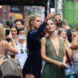 Stella Maxwell et Lily Aldridge à New York, le 26 juillet 2016.