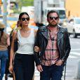 Exclusif - Le mannequin Lily Aldridge et son mari Caleb Followill à New York, le 4 juin 2016.