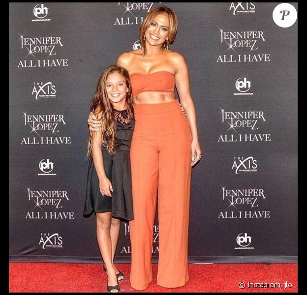 Jennifer Lopez après son spectacle à Las Vegas. Photo publiée sur Instagram au mois d'août 2016