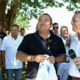 Semi-exclusif - Fabien Onteniente et Pierre Rapiau lors du 9e Star West Pétanque à Arcachon, France, le 7 août 2016. © Jean-Marc Lhomer/Bestimage