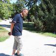 Semi-exclusif - Fabien Onteniente en pleine partie lors du 9e Star West Pétanque à Arcachon, France, le 7 août 2016. © Jean-Marc Lhomer/Bestimage