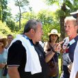 Semi-exclusif - Fabien Onteniente, Alexandre Le Provost et Alain Roche lors du 9e Star West Pétanque à Arcachon, France, le 7 août 2016. © Jean-Marc Lhomer/Bestimage