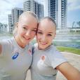 Les soeurs jumelles Lieke et Sanne Wevers en août 2016 lors des JO de Rio de Janeiro. Photo Instagram Sanne Wevers.