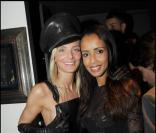 Sonia Rolland et Sarah Marshall à la soirée Black Leather Ball chez JC Jitrois, le 20/11/08