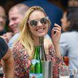Exclusif - Candice Swanepoel enceinte est allée déjeuner avec Doutzen Kroes et son mari Sunnery James au restaurant Bar Pitti au Greenwich Village à New York, le 5 juin 2016York.05/06/2016 - New York