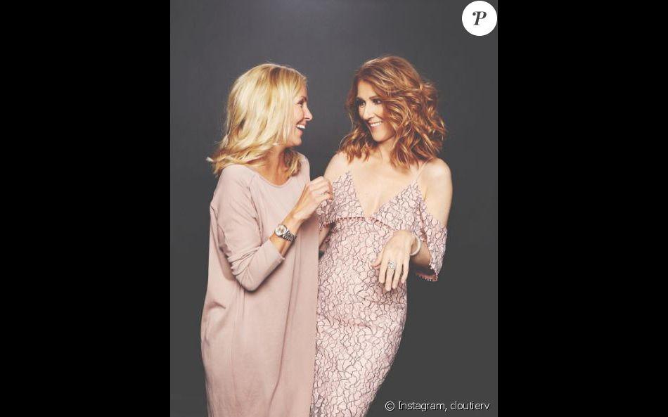 L'actrice Veronique Cloutier pose avec Céline Dion à Montréal. Instagram, août 2016
