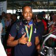 Dimitri Bascou -Retour à Paris des athlètes français des Jeux olympiques de Rio 2016 à l'aéroport de Roissy le 23 août 2016.