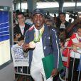 Souleymane Cissokho -Retour à Paris des athlètes français des Jeux olympiques de Rio 2016 à l'aéroport de Roissy le 23 août 2016.