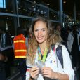 Élodie Clouvel -Retour à Paris des athlètes français des Jeux olympiques de Rio 2016 à l'aéroport de Roissy le 23 août 2016.