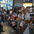 Retour à Paris des athlètes français des Jeux olympiques de Rio 2016 à l'aéroport de Roissy le 23 août 2016.