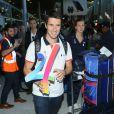 Tony Estanguet -Retour à Paris des athlètes français des Jeux olympiques de Rio 2016 à l'aéroport de Roissy le 23 août 2016.