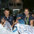 Renaud Lavillenie -Retour à Paris des athlètes français des Jeux olympiques de Rio 2016 à l'aéroport de Roissy le 23 août 2016.
