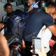 Tony Yoka -Retour à Paris des athlètes français des Jeux olympiques de Rio 2016 à l'aéroport de Roissy le 23 août 2016.