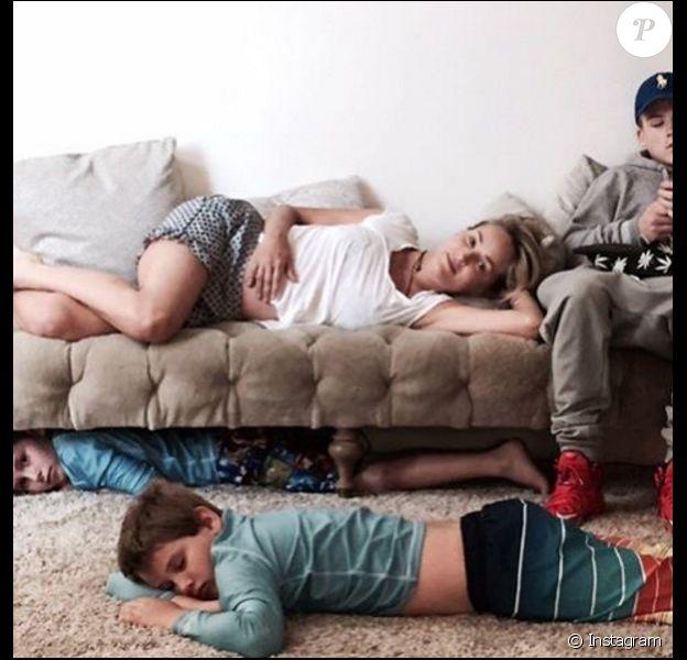 Sharon Stone et ses trois fils, Roan, Laird et Quinn - 22 août 2016
