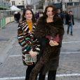 """Nathalie Rykiel et sa fille Salomé Burstein Rykiel - Défilé """"Sonia Rykiel"""", collection prêt-à-porter automne-hiver 2016-2017, le 7 mars 2016. © CVS/Veeren/Bestimage"""