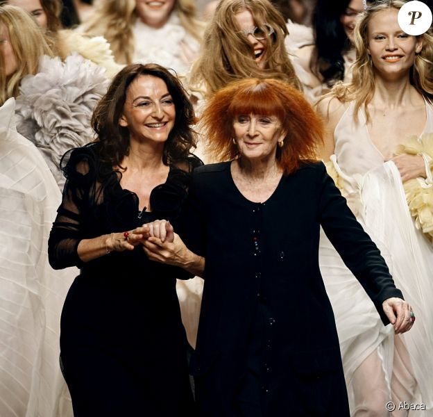 Sonia Rykiel et sa fille Nathalie - Défilé Sonia Rykiel à Paris, octobre 2007.