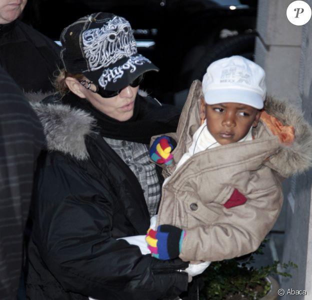 Madonna et ses enfants à New York