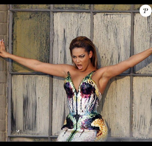Beyoncé sur le tournage de son nouveau clip