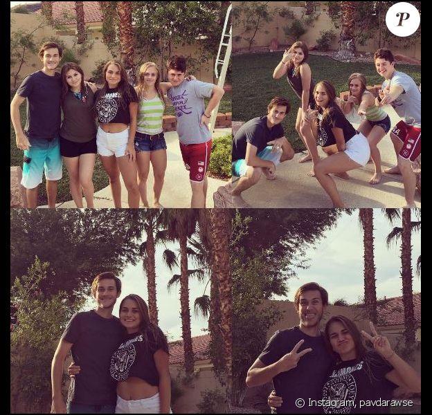 René-Charles et ses amis posent sur Instagram. Le 28 août 2016.
