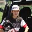 Exclusif - René-Charles Angélil fait un parcours au golf du Paris Country Club de Saint-Cloud le 7 juillet 2016.