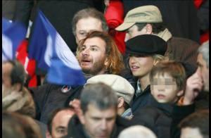 REPORTAGE PHOTO : Michaël Youn et sa compagne Isabelle, Michel Drucker et PPDA, comme des fous dans les tribunes du Parc des Princes !