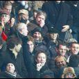 Luis Fernandez, Richard Gasquet, Thierry Champion, Michel Drucker au match PSG-OL, le 22/11/08 au Parc des Princes