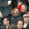 Michel Drucker en grande foforme au match PSG-OL, le 22/11/08 au Parc des Princes