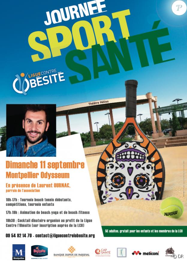 """Laurent Ournac mobilisé contre l'obésité à Montpellier le 11 septembre prochain, lors d'une journée """"Sport et santé""""."""