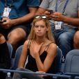 Clémence Bertrand, la compagne de Lucas Pouille, assiste au quart de finale de l'US Open. Gaël Monfils s'impose face à Lucas lors de l'US Open 2016 au USTA Billie Jean King National Tennis Center à Flushing Meadow, New York, le 6 septembre 2016.