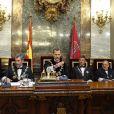 Le roi Felipe VI d'Espagne présidait le 6 septembre 2016 l'ouverture cérémonielle de l'année judiciaire à la cour suprême à Madrid.
