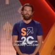 Bradley Cooper lors de son allocution concluant la soirée télévisée de bienfaisance Stand up to Cancer qu'il produisait, le 9 septembre 2016 à Los Angeles.