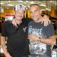 Johnny Hallyday et Christian Audigier à Los Angeles en 2007