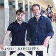 Daniel Radcliffe et le réalisateur Daniel Ragussis - Inauguration de la cabine de Daniel Radcliffe sur les planches au 42ème Festival du Film Américain de Deauville le 10 septembre 2016. © Denis Guignebourg / Bestimage