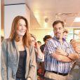 """Semi-Exclusif - Carla Bruni-Sarkozy rejoint son mari Nicolas Sarkozy lors d'une séance de dédicaces de son livre """"Tout pour la France"""" à la Fnac des Ternes à Paris le 10 septembre 2016 © Pierre Perusseau / Bestimage"""