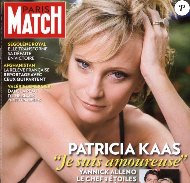Patricia Kaas en couverture de Paris Match