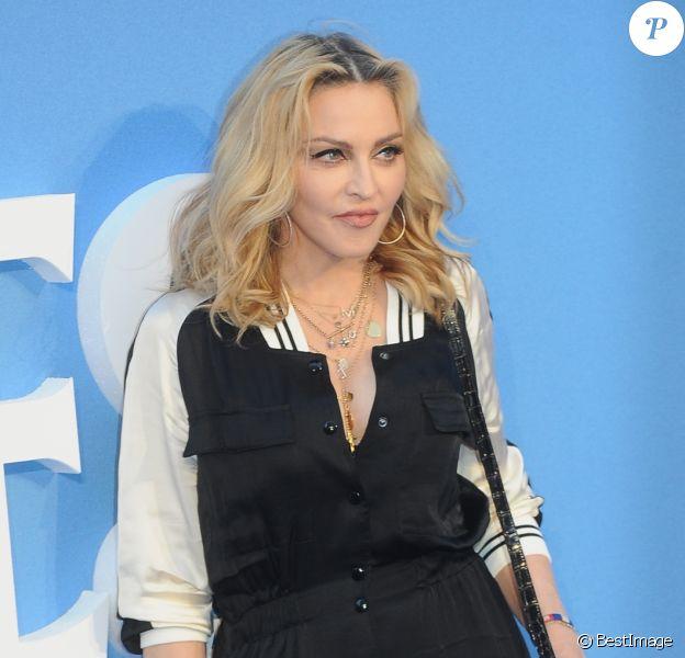 """Madonna à la première de """"The Beatles: Eight Days A Week - The Touring Years"""" au cinéma Odeon à Leicester Square à Londres, le 15 septembre 2016."""