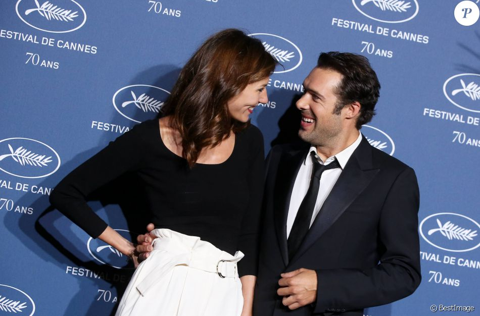 Doria Tillier et Nicolas Bedos - Soirée à l'occasion des 70 ans du tout premier festival de Cannes à l'école des Beaux Arts à Paris, le 20 Septembre 2016. © Dominique Jacovides/Bestimage