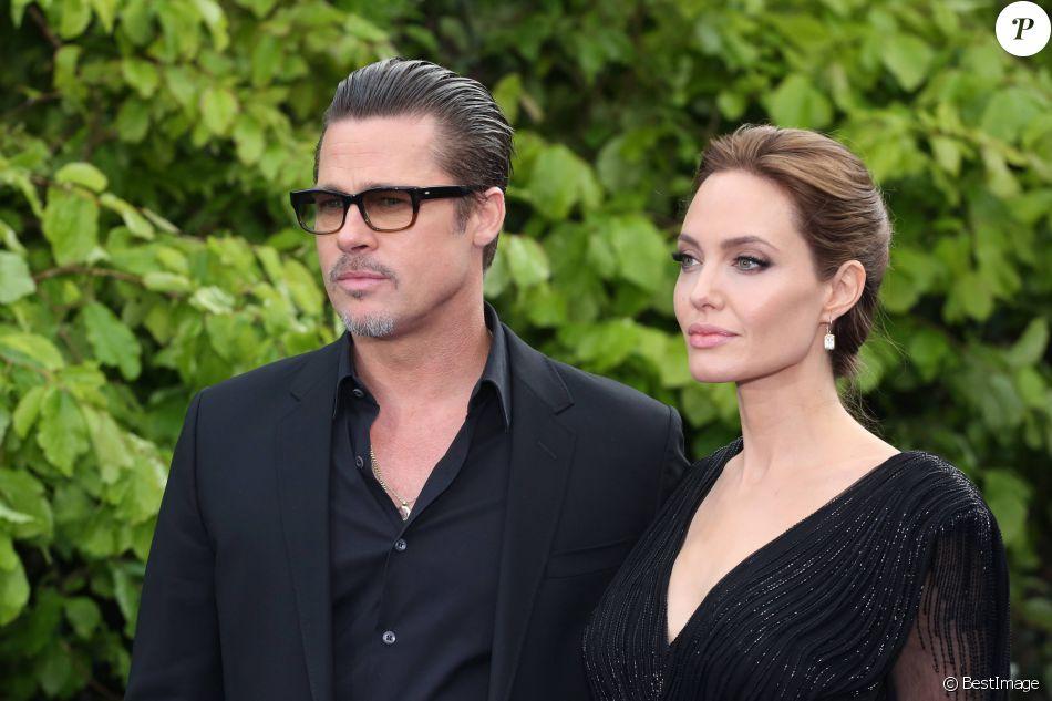 """Brad Pitt et Angelina Jolie - Avant-première du film """"Maléfique"""" à Londres le 8 mai 2014"""