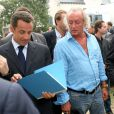 Didier Barbelivien et Nicolas Sarkozy à La Baule, le 4 septembre 2005.