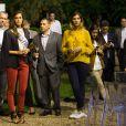 Exclusif - Iris Mittenaere, Miss France 2016 et Camille Cerf, Miss France 2015 lors de la soirée pour le lancement du Millésime 2006 de la maison Champagne Collet à l'Ecole Nationale des Beaux-Arts à Paris, le 22 septembre 2016